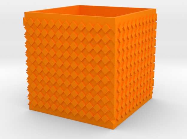planter in Orange Processed Versatile Plastic