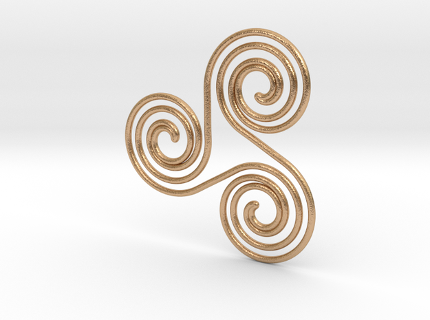Water triple spiral pendant