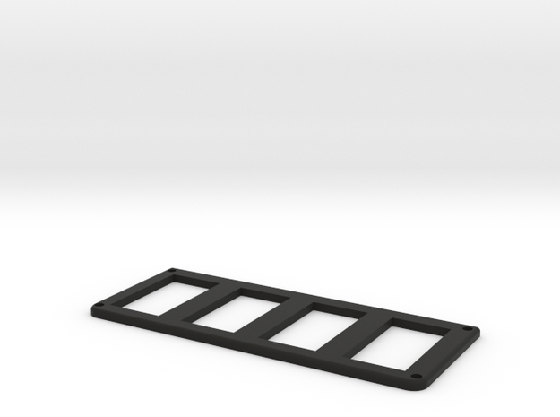 Jeep Cherokee XJ Overhead Console Switch Panel (4) in Black Natural Versatile Plastic
