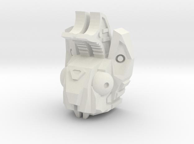 PotPie Fist Head: Cyber-Jackalope in White Natural Versatile Plastic