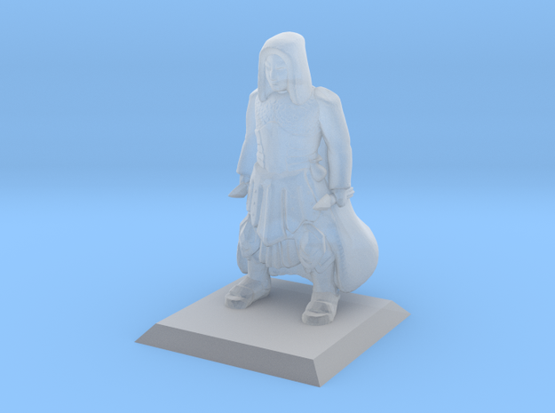 Human Cleric in Smooth Fine Detail Plastic