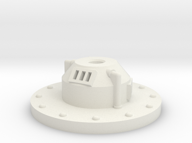 turret base for weapon set in White Natural Versatile Plastic