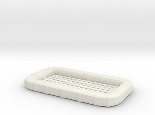 1/48 USN 25 man Life Raft Square in White Natural Versatile Plastic