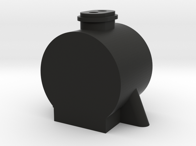 TWR Large Double Chimney Smokebox in Black Natural Versatile Plastic