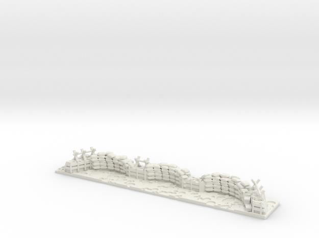 "Trench (6""x1"") for heavygear in White Natural Versatile Plastic"