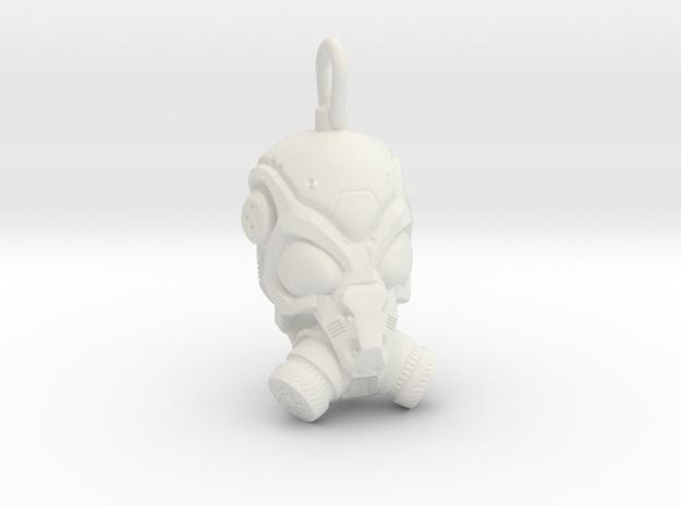 Scifi Gas mask  in White Natural Versatile Plastic
