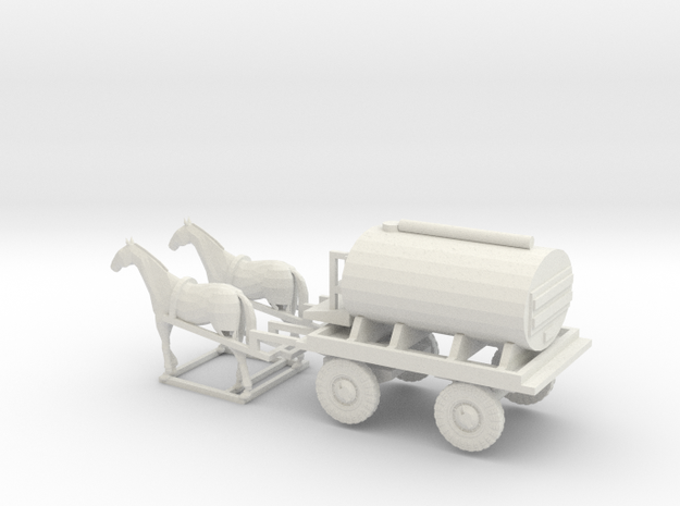1/120 German Field Bakkery horse drawn in White Natural Versatile Plastic