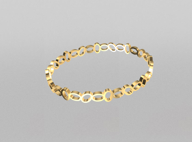 Crown bangle in 14K Yellow Gold