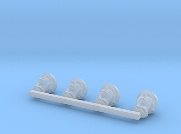 Human Males with RH in Smooth Fine Detail Plastic