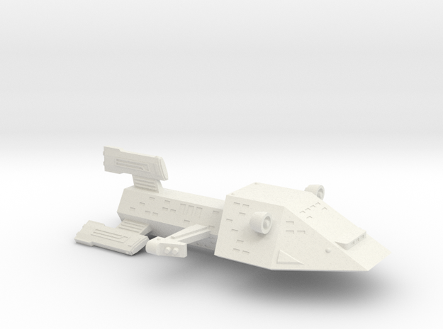 3788 Scale Kzinti Light Cruiser (CL) SRZ in White Natural Versatile Plastic