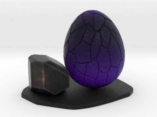Purple dragon egg scene 1 (1 rock version) ornamen