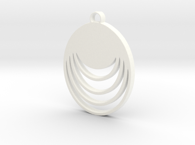 Loopy Lou Pendant in White Processed Versatile Plastic