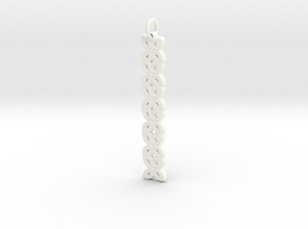 Kisses Pendant in White Processed Versatile Plastic