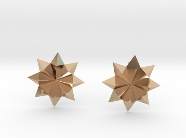 Starburst Stud Earrings in 14k Rose Gold Plated Brass
