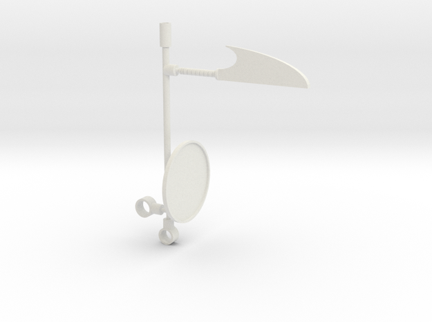 Microman BP01 Weapons in White Natural Versatile Plastic