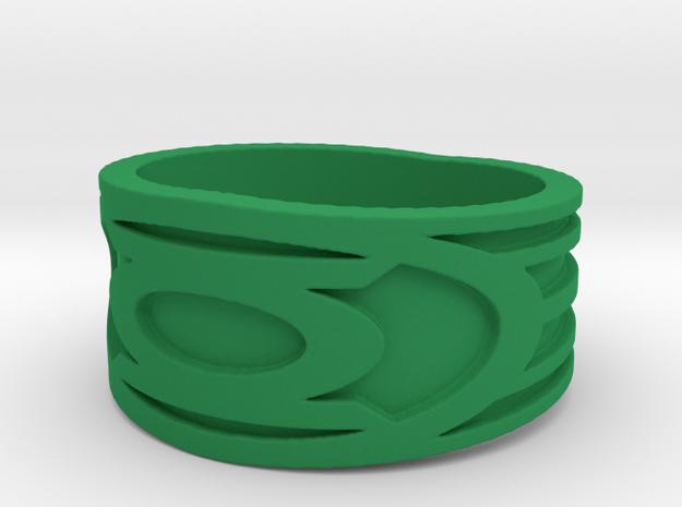 Green lantern Ring  in Green Processed Versatile Plastic: 11 / 64