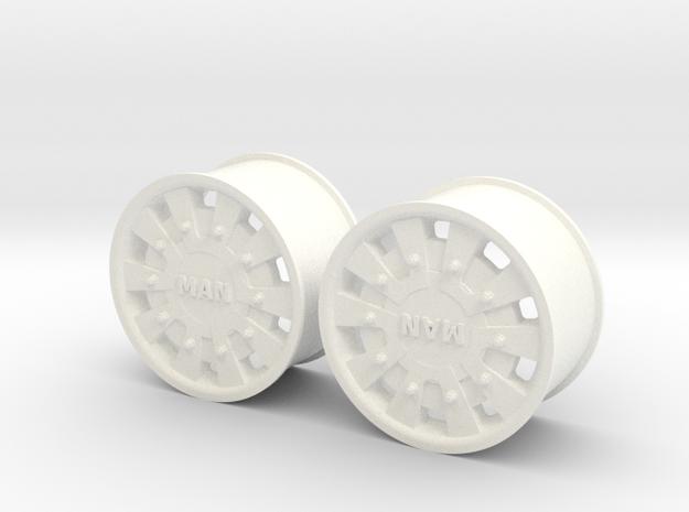 MAN TGA/X Super Single front rim in White Processed Versatile Plastic