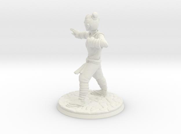 Elf Monk Miniature D&D DnD in White Natural Versatile Plastic