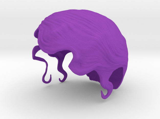 Cold Wave - Right Part in Purple Processed Versatile Plastic: Small