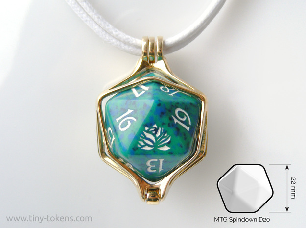 Dice Pendant - D20 - 22 mm (MTG Spindown)