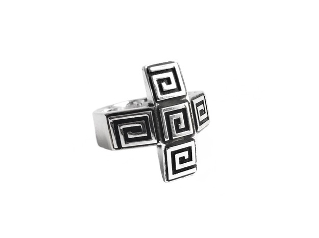Ancient Plus Ring in Antique Silver: 7 / 54