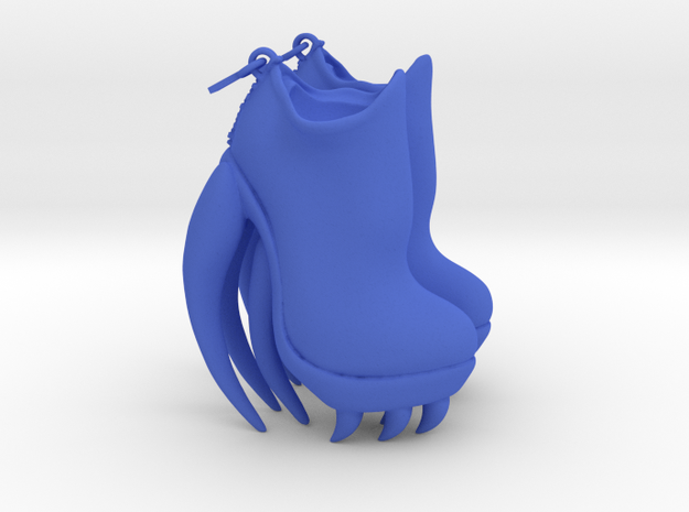 Shark Boots in Blue Processed Versatile Plastic: Small
