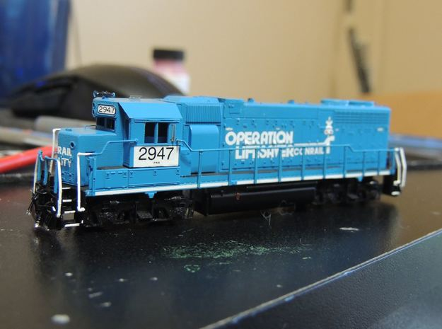 N Scale Dual Control Stand GP38 Cab Marker Lights  in Smooth Fine Detail Plastic