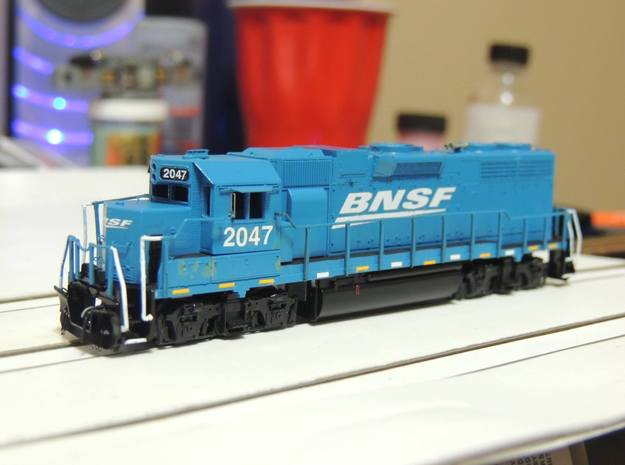 N Scale Dual Control Stand GP38 Cab With Electroni in Smoothest Fine Detail Plastic