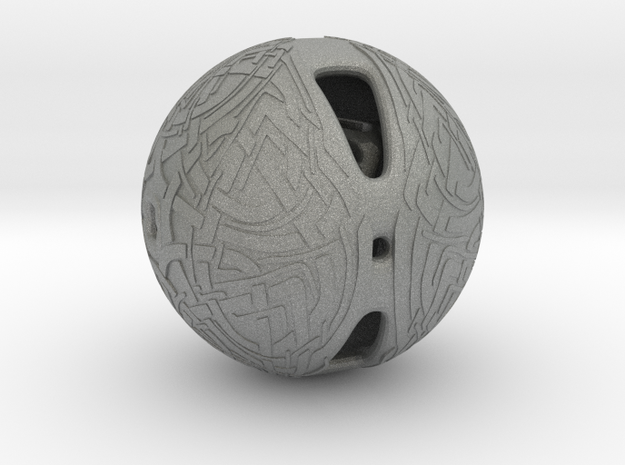 Celtic Knotwork Mythical  Sphere in Gray PA12
