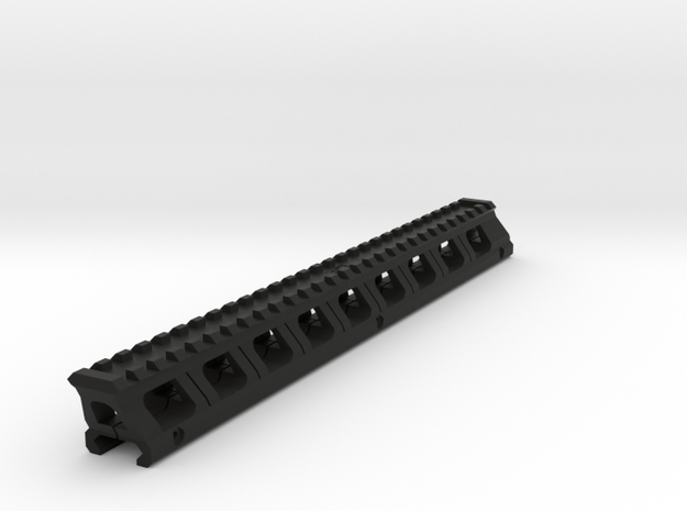 Full Length Top Rail Riser for Kriss Vector in Black Natural Versatile Plastic