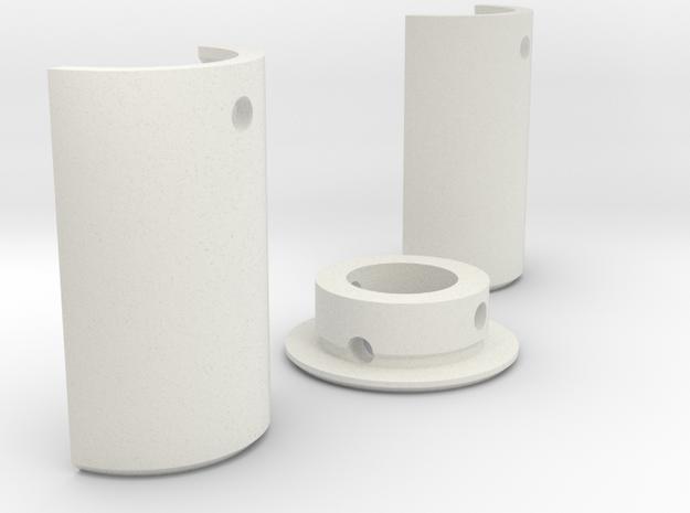 "1"" Pixel Prism Blade Adapter in White Natural Versatile Plastic"