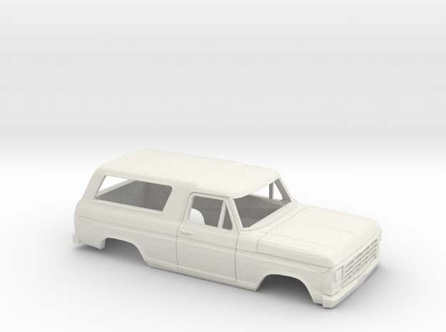 1/32 1978-79 Ford Bronco in White Natural Versatile Plastic