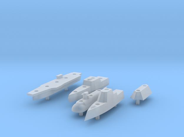 Battleship Game - Full Fleet of Custom Ships in Smooth Fine Detail Plastic
