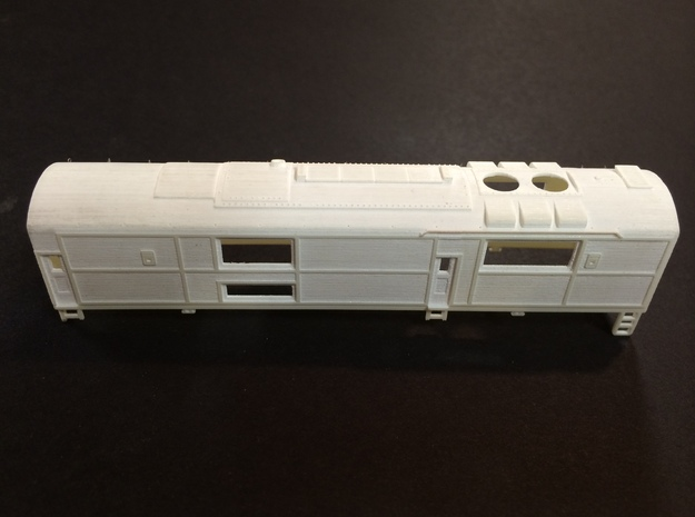 N scale CNJ Baby Faced Baldwin B Unit 3d printed