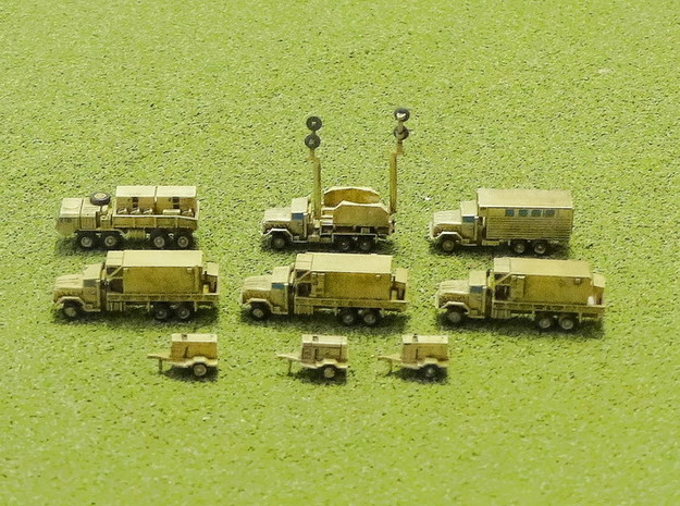 MIM-104 Patriot Missile Battery Trucks 1/200 in Smooth Fine Detail Plastic