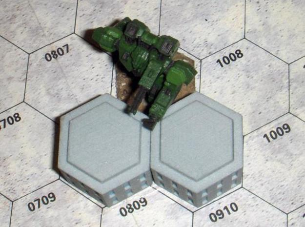 WHAM- Hex Building Stackable (1/160th) 3d printed