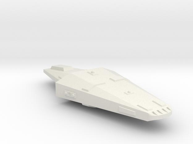 3125 Scale Hydran Gendarme Police Frigate CVN in White Natural Versatile Plastic