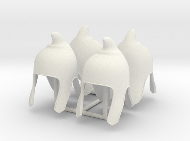 PHRYGIAN HAT X4  in White Natural Versatile Plastic