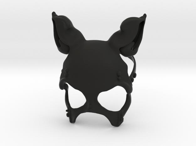 Button Bunny Mask in Black Natural Versatile Plastic: Small
