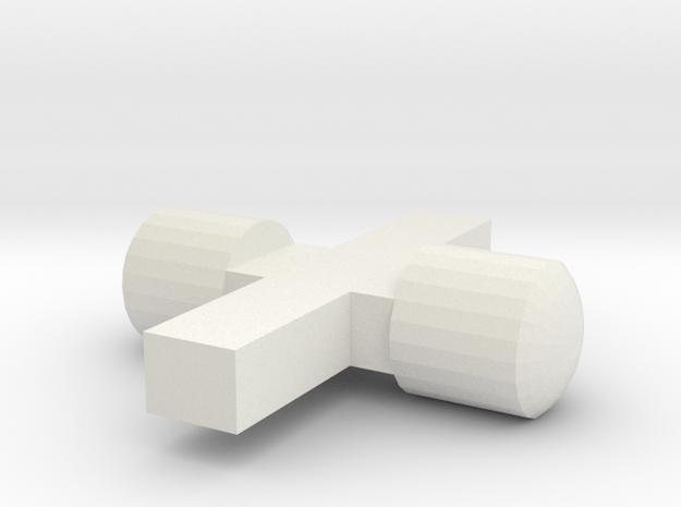 n2 Scheinwerfereinsätze / Lichtnägel in White Natural Versatile Plastic