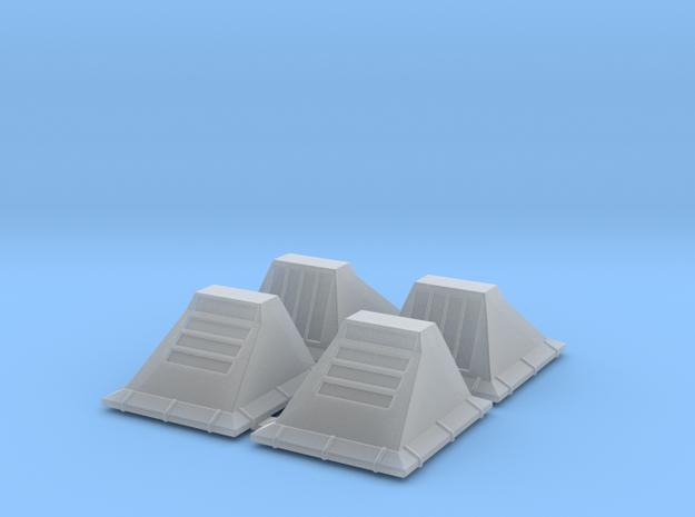 1_29 SW Floor Lights (4 Pack) in Smooth Fine Detail Plastic