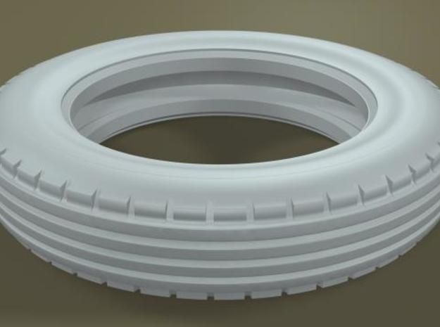 1/8 Firestone (version A) Front Midget Tire in White Strong & Flexible