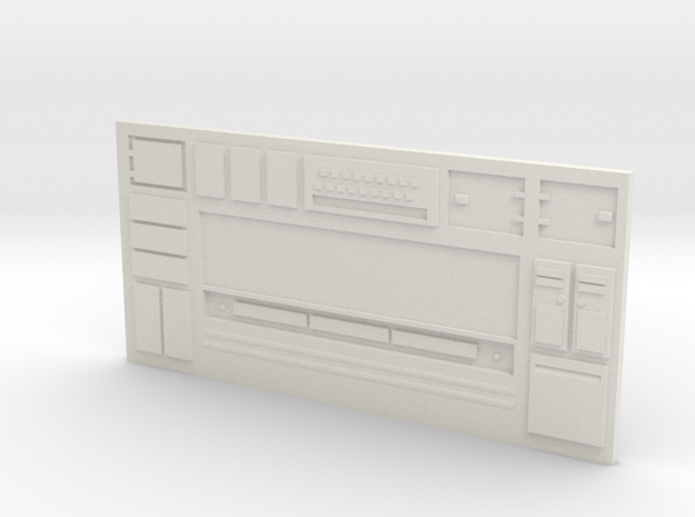 Long Sci-Fi Wall in White Natural Versatile Plastic