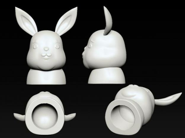 ennui animals - Rabbit 3d printed Inside is hollow.