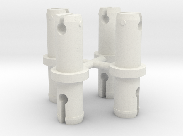 Hydra Wheel Pegs in White Natural Versatile Plastic