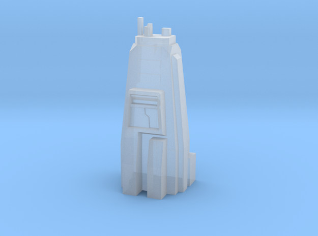 Sci Fi building module - skyscraper /military head in Smooth Fine Detail Plastic