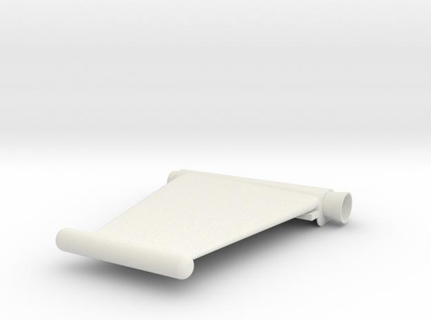 Captain Action Silver Streak - Left Wing in White Natural Versatile Plastic