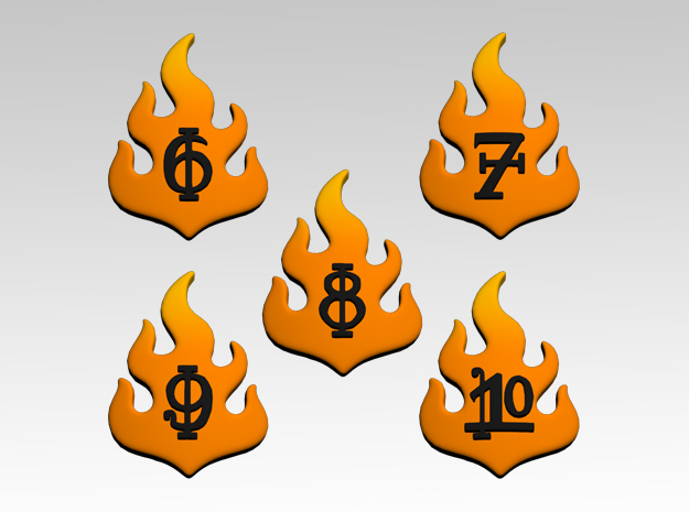 Flame 6-10 Icons x50