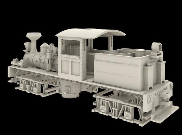 Nn3 Scale Class A, 16 Ton, 'T' Boiler Shay in Black Hi-Def Acrylate