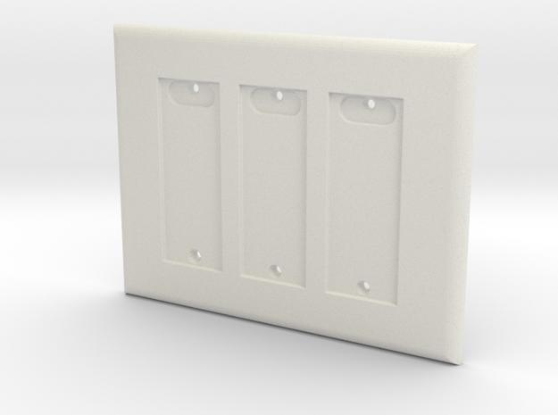 Philips HUE Triple Dimmer Plate 3 Gang in White Natural Versatile Plastic